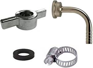 Bev Rite CPCCM198SS Connector Kit For Beer Line With Wing Nut and Elbow Tailpiece, Stainless Steel Contact (304 Grade)