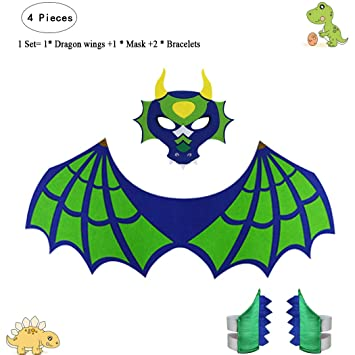 d67656952cd Fly Childhood Kids Dragon Wings Toddlers Boys Girls Dress up Costume Mask