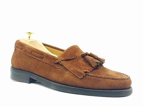 Wescott Shoemaker - Loafer Ante Flecos, Hombre, Color Cuero, Talla 45: Amazon.es: Zapatos y complementos