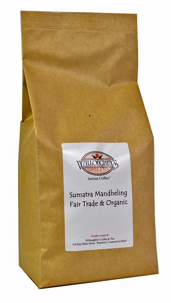 Sumatra Mandheling Fair Trade & Organic 5 lb - Ground by Willoughby's Coffee & Tea