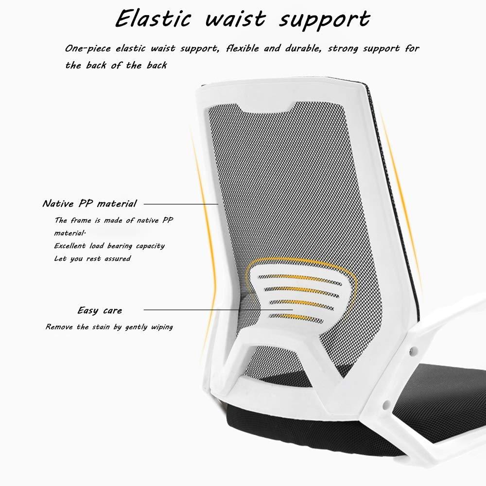 Kontorsskrivbordsstol, mellanrygg läder verkställande konferensuppgift stol justerbar svängbar stol med armar (brun) (färg: Orange) Orange
