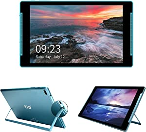 TJD 10 Inch Tablet, Android 10, Quad-Core Processor, 2GB RAM 32GB ROM, 1280x800 IPS Display, 5MP Rear Camera, Wi-Fi, Bluetooth, 6000mAh Battery, Google Play Tablet with Stand and Case MT-1011QU Blue