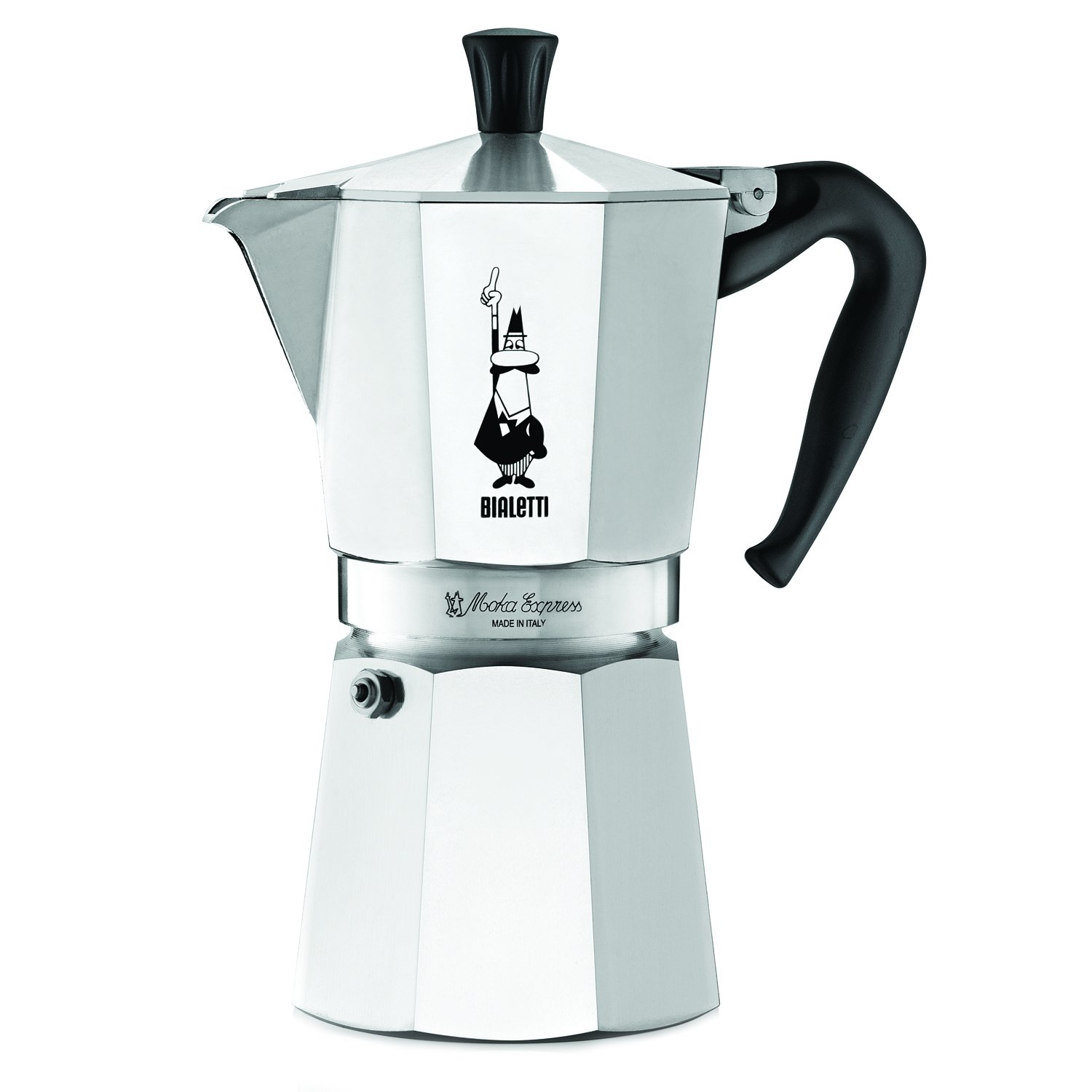 Bialetti 6801 moka stovertop coffee maker 9-Cup Silver