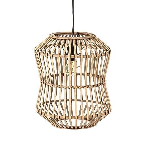 Lámpara de Techo de bambú Natural Beige Moderna para la ...