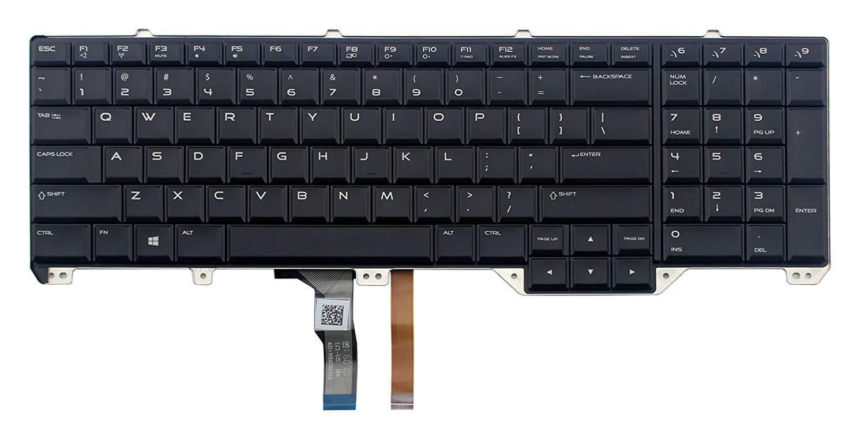 Original New for DELL Alienware M17X R2 R3 Backlit Laptop Keyboard US 02C6KH