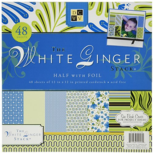 Die Cuts With A View 48-Sheet Premium Stack, 12-inches by 12-inches, White Ginger