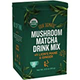 Four Sigmatic Organic Mushroom Matcha with Lion's Mane and Ginger For Brain Health and Digestion, Vegan, Paleo, 60 Gram