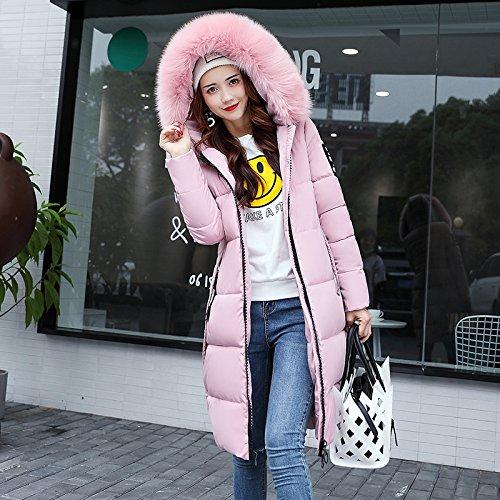 Winter Coat Is Jacket Xuanku Cotton Women The Slimming Collar Cap Pink Long Clothing Wool Even Cotton Autumn Down IIUwqa6z