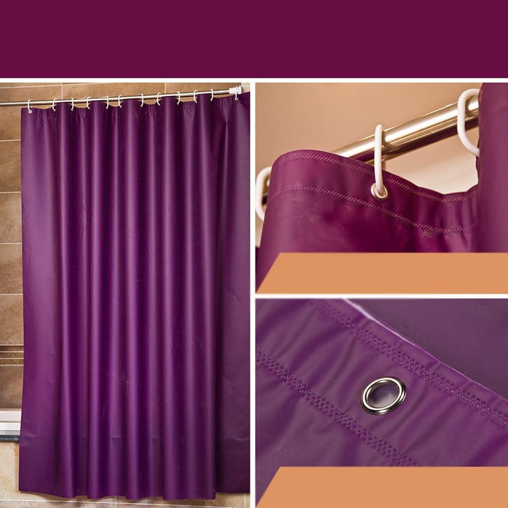 QQ impermeable y Moldy cortina de ducha baño cortina de sombra EVA ...