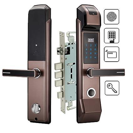 LYQZ Cerradura electrónica de la Puerta de la Huella Digital de la Seguridad Cerradura sin Llave