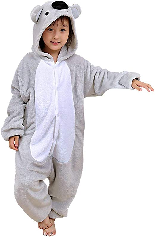 Ragazze Bambini Koala Ones Tutto in uno Pigiama Abbigliamento Comodo
