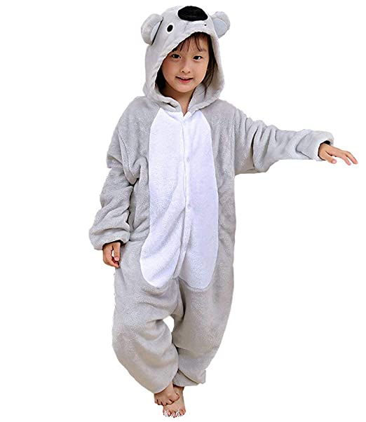 Kigurumi Pijama Animal Entero Unisex para Niños con Capucha ...
