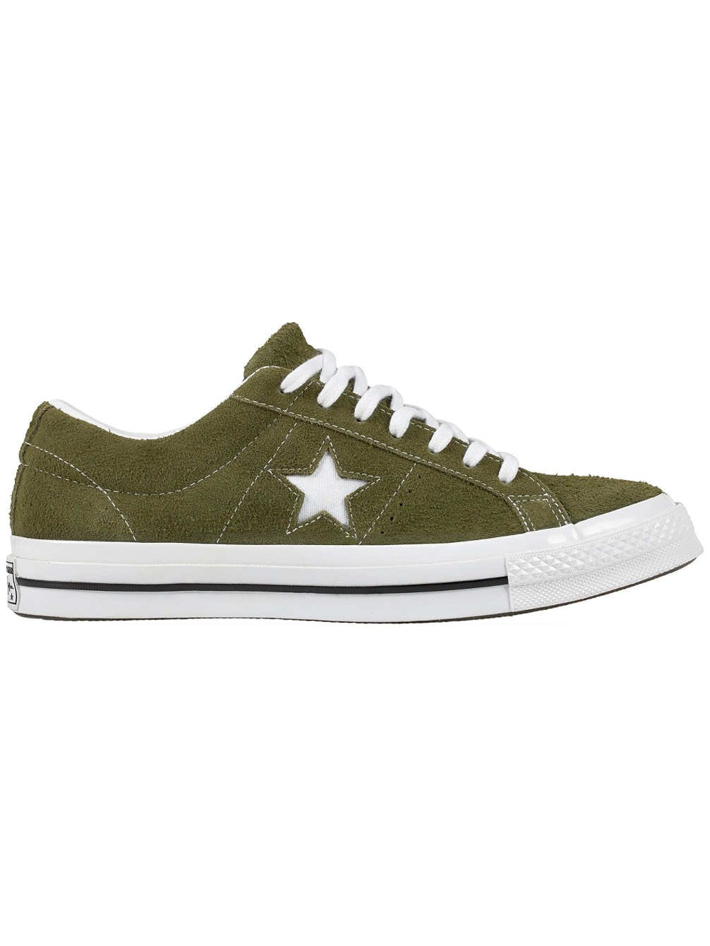 Converse Mens One Star Ox Suede Low Top Casual Shoes Green 10 Medium (D)