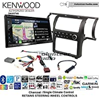 Volunteer Audio Kenwood DNX574S Double Din Radio Install Kit with GPS Navigation Apple CarPlay Android Auto Fits 2003-2004 Infiniti G35 (Charcoal) (Single zone A/C controls)
