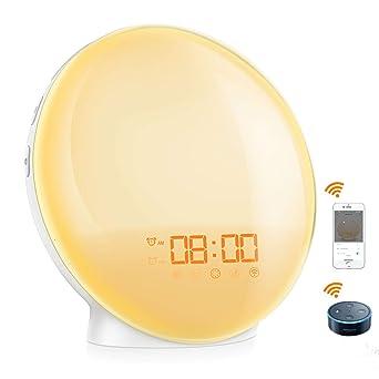 ORIA Sunrise Alarm Clock, Smart Wake Up Light, Alexa: Amazon co uk