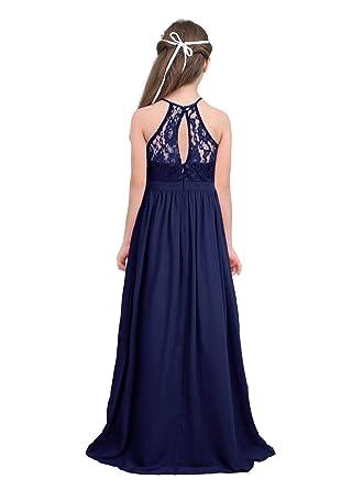 Freebily Vestido Elegante De Princesa Floreado Para Niña 4 14 Años Para Niña Vestido Infantil Boda Fiesta Bautizo