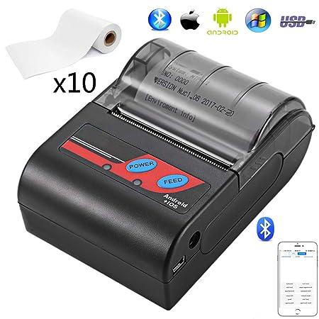 EJOYDUTY Impresora de Recibos personales de 58 mm, con USB y ...