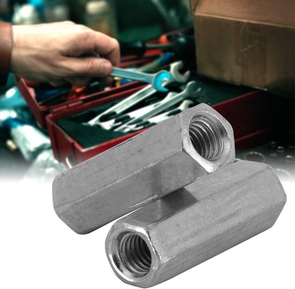 tama/ño : M6*18 Conector de Varilla Larga Tuerca Hexagonal Conector de Varilla Roscada Conector Acero de Carbono Tuerca de Acoplamiento M/étrica 10 Piezas