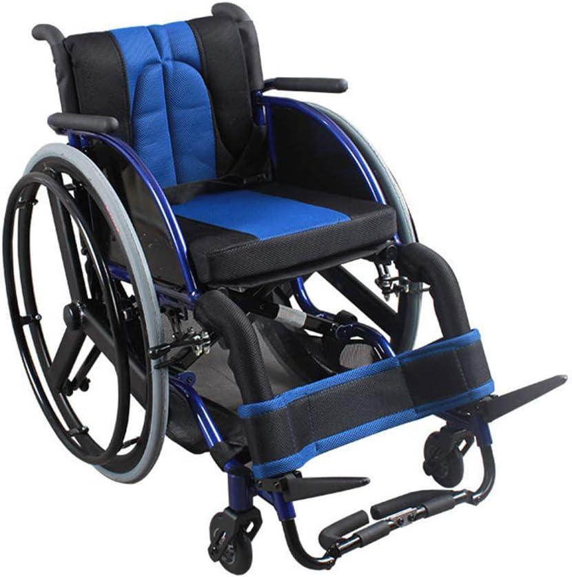 TWL LTD-Wheelchairs Silla de Ruedas Deportiva, Silla de Ruedas Ligera Y Casual Silla de Ruedas Plegable de Aleación de Aluminio Ultraligera Ocio Scooter Deportivo