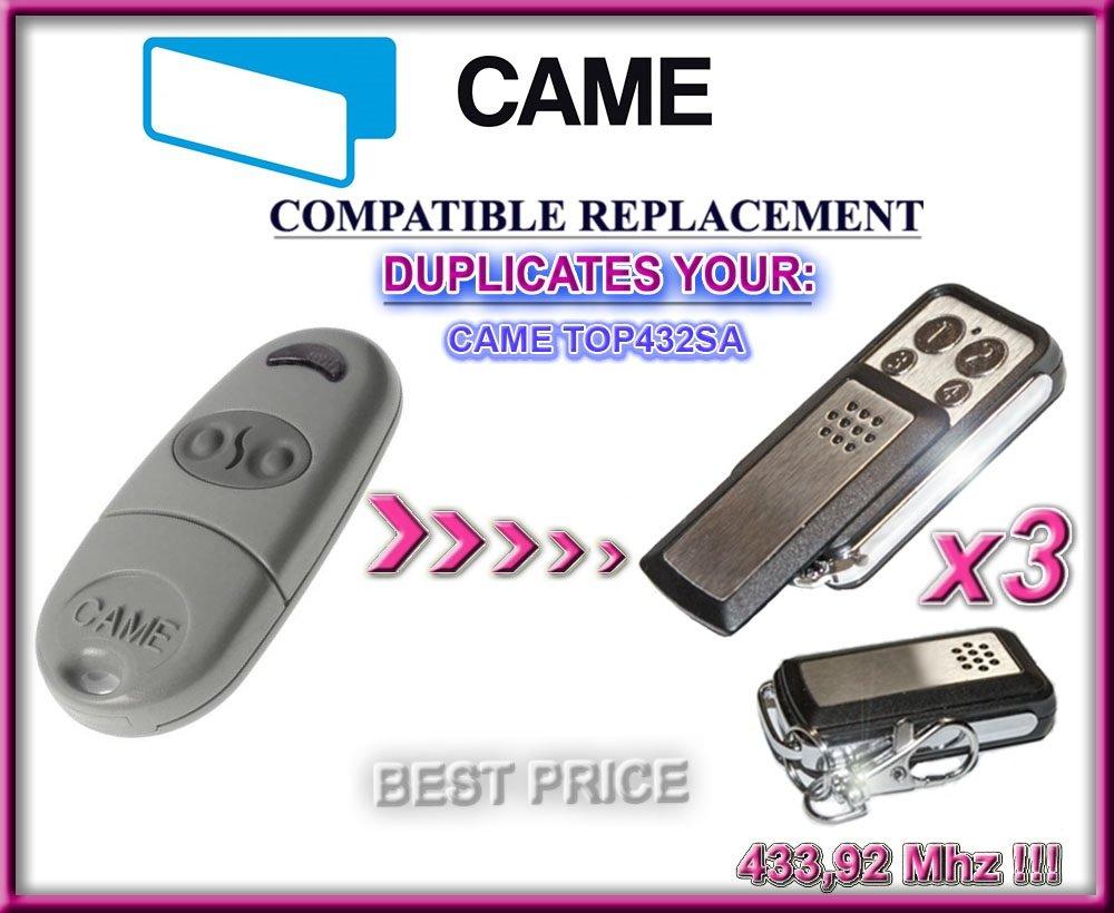 3 x top432sa互換リモートコントロールクローン送信機、付属のガレージゲート自動化、トップ品質Keyfob、433,92 MHz固定コードクローン3トップ品質クローンRemotes最高の価格 B01N1TFMKL