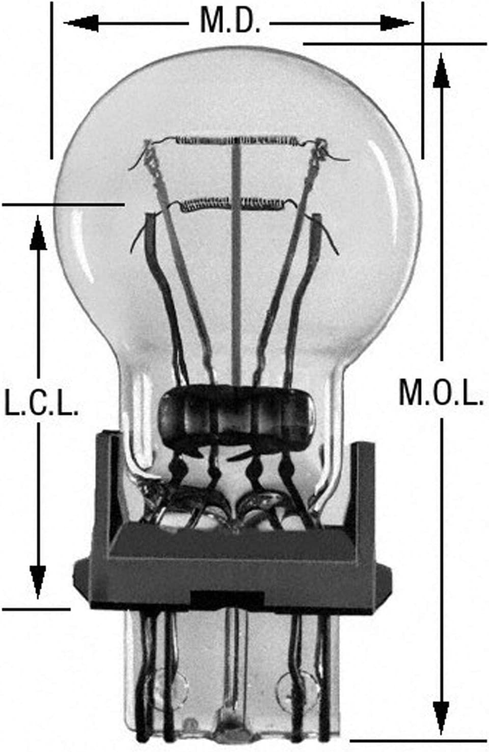 Card of 2 Wagner BP3357LL Light Bulb Multi-Purpose