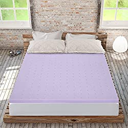 "Best Price Mattress 2"" Lavender Memory Foam Mattress Topper, King"