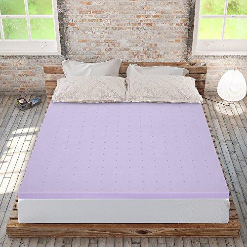 "Price comparison product image Best Price Mattress 2"" Lavender Memory Foam Mattress Topper, Twin"