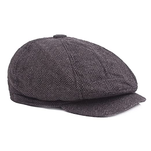 Amazon.com  Polytree Mens Classic Flat Cap newsboy Hunting Hat ... db69e278a2f