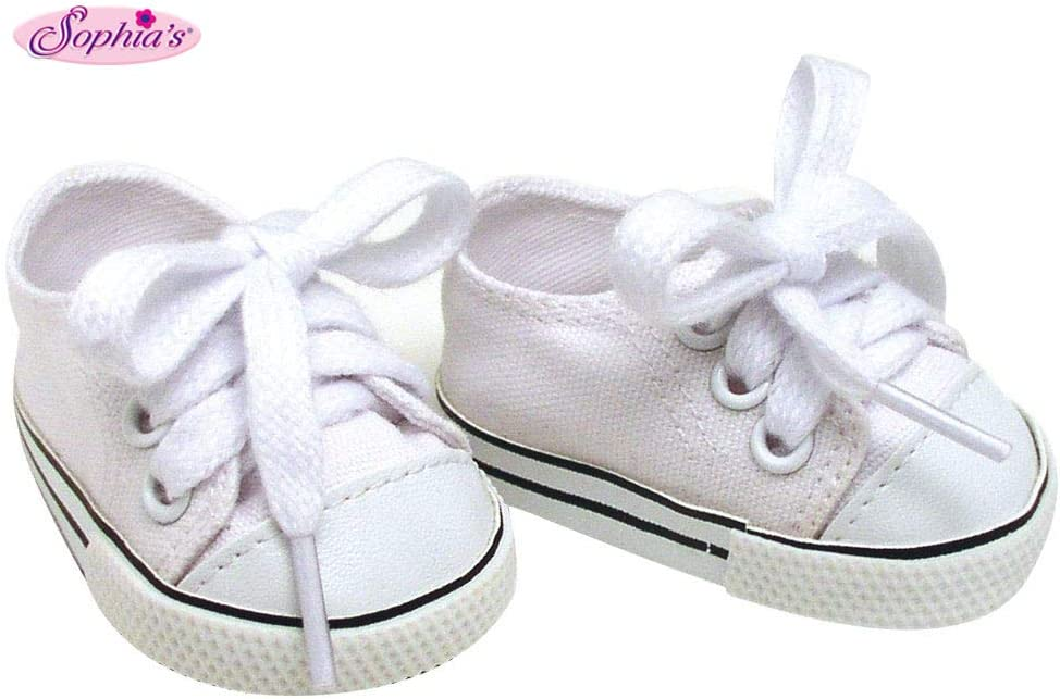 """Pair Canvas Sneakers Gym Shoes for 18/"""" AG American Doll  Doll"""