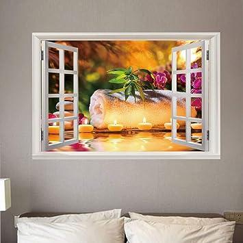 Adesivi Giganti Per Pareti.Adesivo Parete Finestra Grande 3d Zen Arte Murale