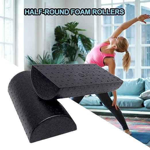 Rodillo de espuma Yoga Pilates Media ronda Yoga Columna ...