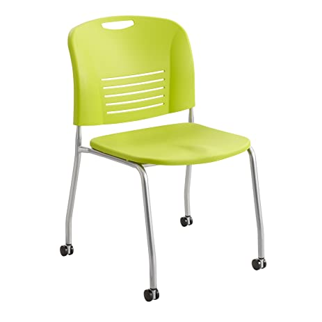 amazon com safco products 4291gs vy straight leg stack chair with