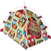 Blesiya Bird Nest House Bed, Parrot Hamster Habitat Cave Hanging Tent,Bird Hammock,Easy Install