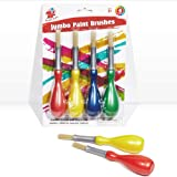 TBC The Best Crafts Kids Jumbo Paint Brushes with Easy Grip Handles(Set of 4),4ct