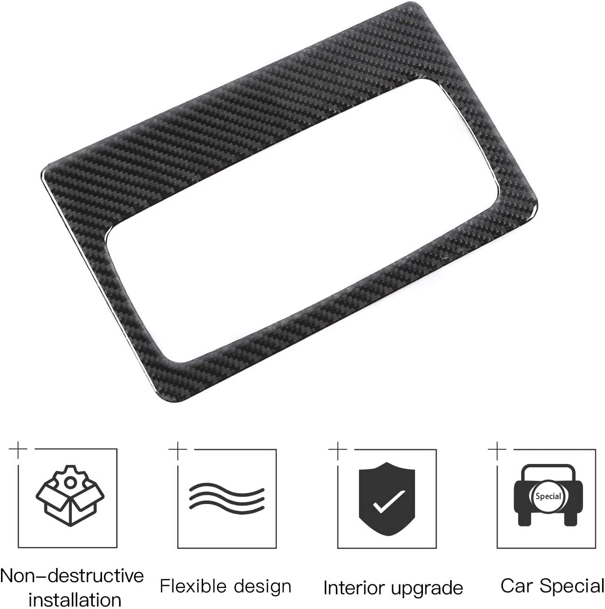 RT-TCZ Rear Air Vents Outlets Trim Cover ABS Interior Decoration Accessories Trim Cover for Toyota 4Runner TRD Pro Off-Road 2010-2021 UP Carbon Fiber