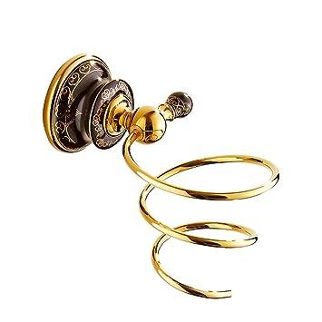 Porta Secador de Pelo Arte de Estilo Vintage Tallado Espiral para Secador de Pelo, para el Baño, Hotel, Peluquería: Amazon.es: Belleza
