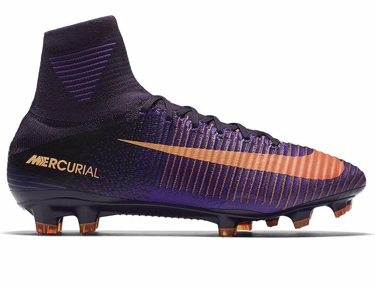 quality design d583c f894d Amazon.com  Nike Mercurial Superfly V FG Purple DynastyBright Citrus  Shoes  Soccer