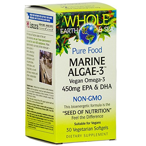 Sea Marine (Whole Earth & Sea - Marine Algae-3, 30 Vegetarian Soft Gels)
