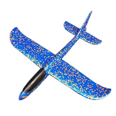a062b00574 Mioloe Flying Glider Aviones Lanzamiento de Espuma Avión Modo Lanzamiento  de la Mano Avión de Planeador