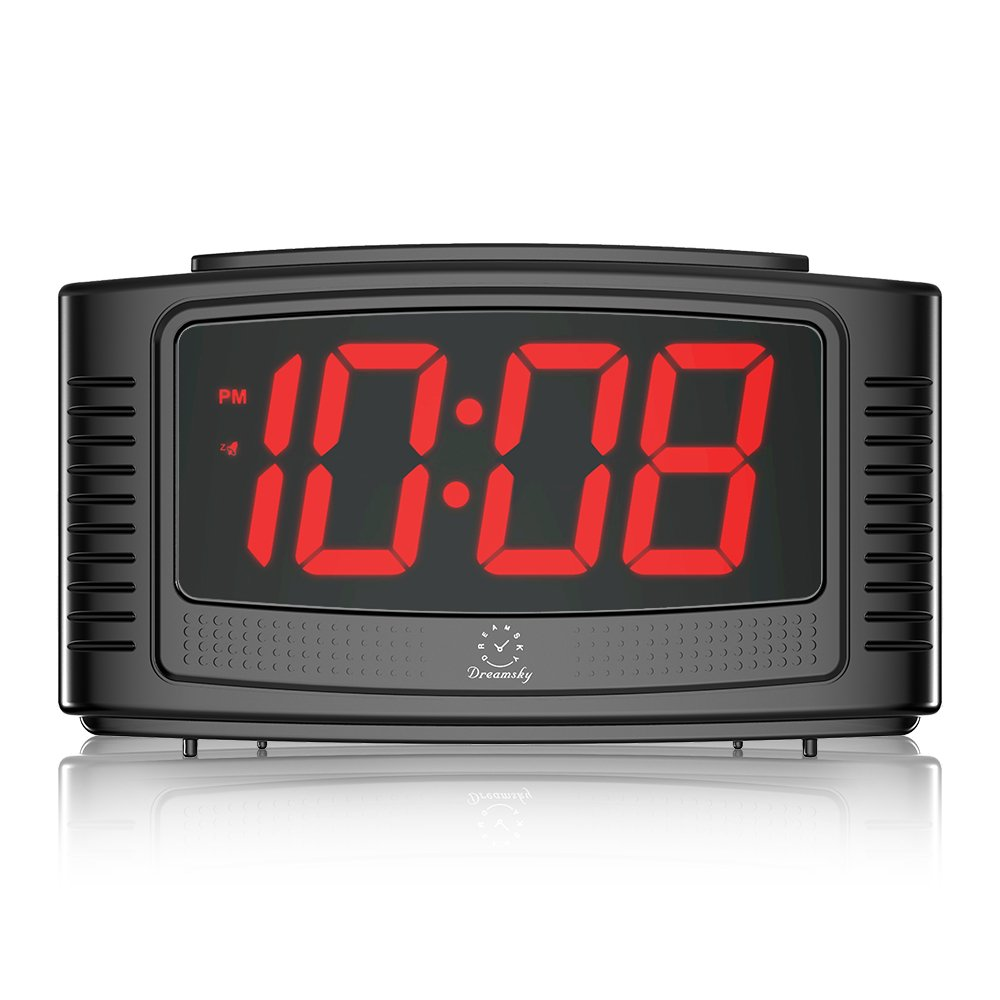 DreamSky Little Digital Alarm Clock with Snooze , 1.2'' Clear Led Digit Display with Dimmer, 2 Level Alarm Volume Optional , Simple To Operate , Plug In Clock .