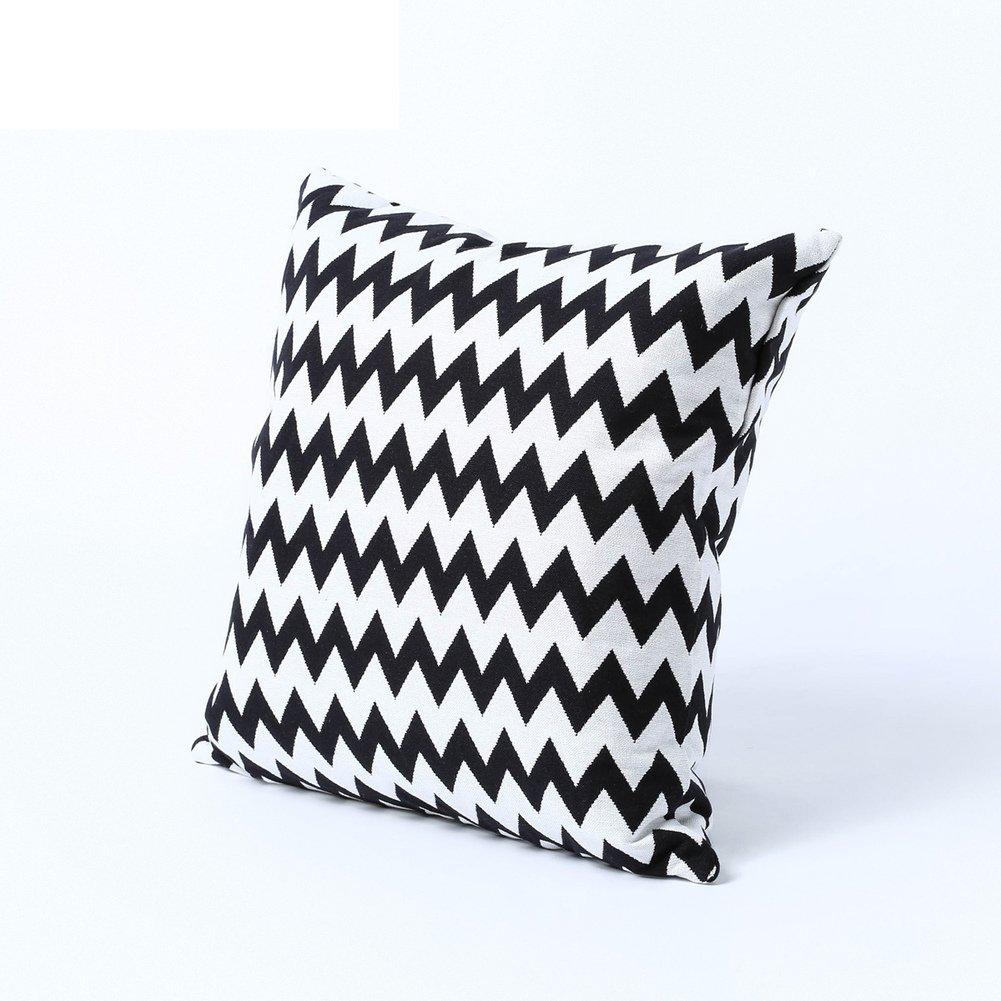 Corrugated cotton pillowcases mixed colors sofa pillows-A 45x45cm(18x18inch)VersionB