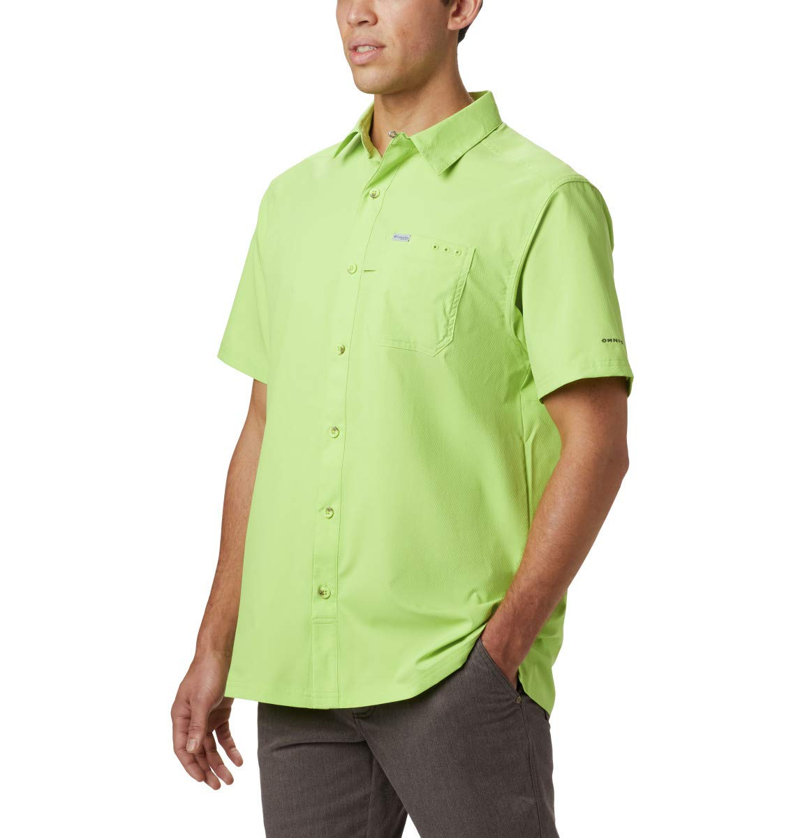 Columbia Men's Slack Tide Camp Shirt, Green Glow, XX-Large by Columbia