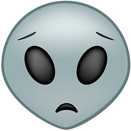 Amazon com: Smiling Alien Emoji Vinyl Decal Wall, Car