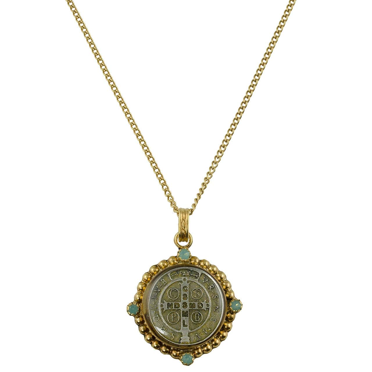 Santa Monica Choker Necklace Gold + Pacific Opal - VSA - Virgins Saints Angels Jewelry