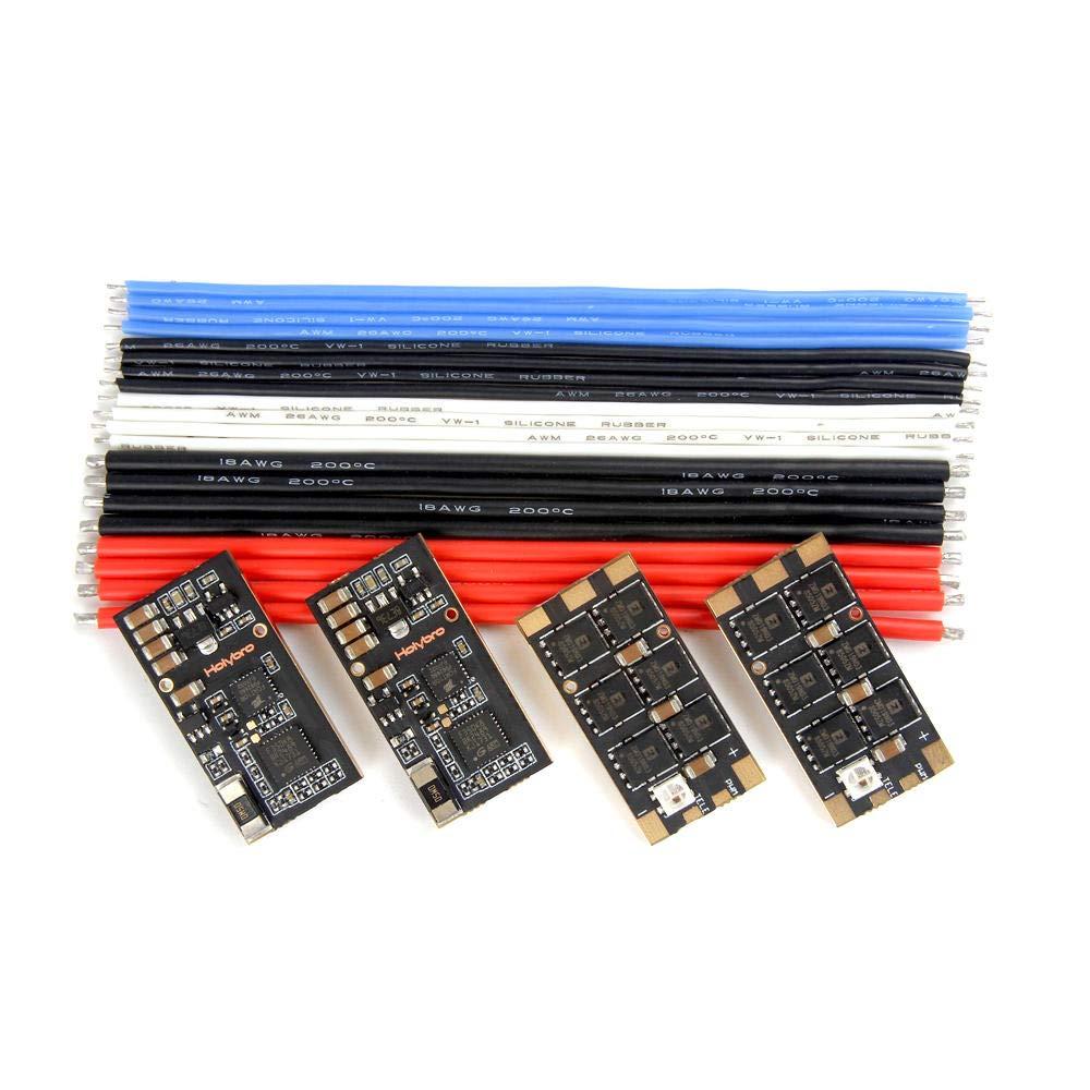 PinShang 4 PCS Holybro Tekko32 F3 35A ESC BLHeli_32 3-6S F3 MCU Dshot1200 Build in Current Sensor WS2812B LED