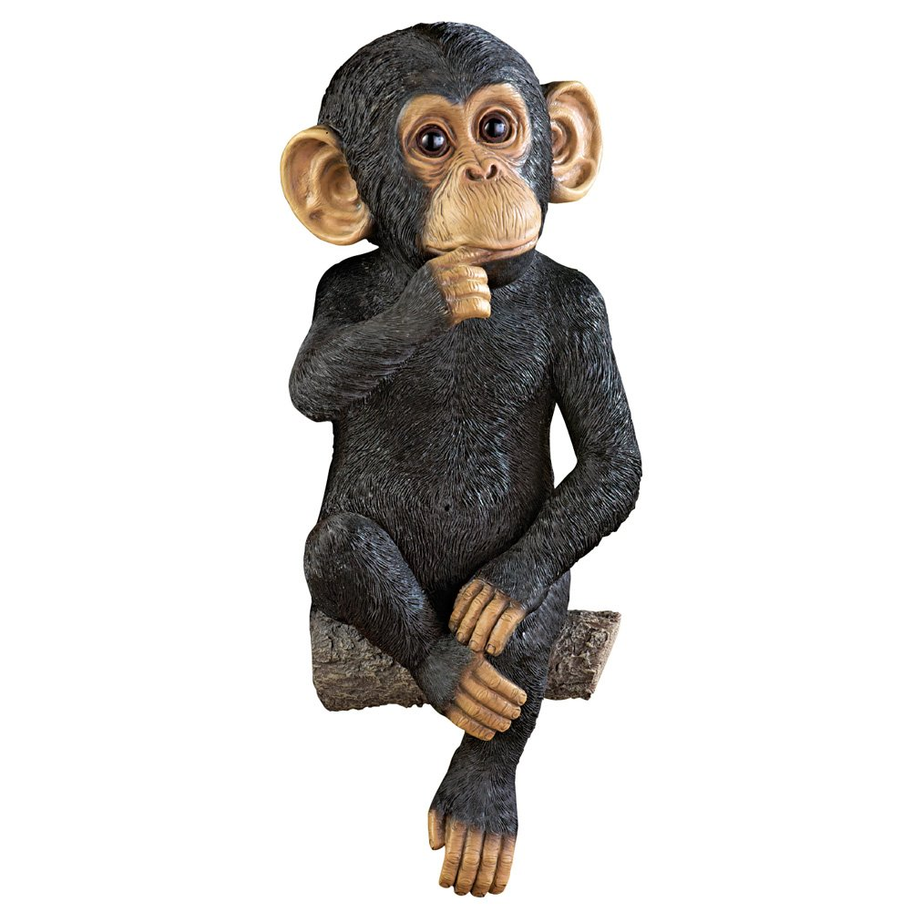 Collections Etc Monkey on a Tree Branch Yard Decoration, Black