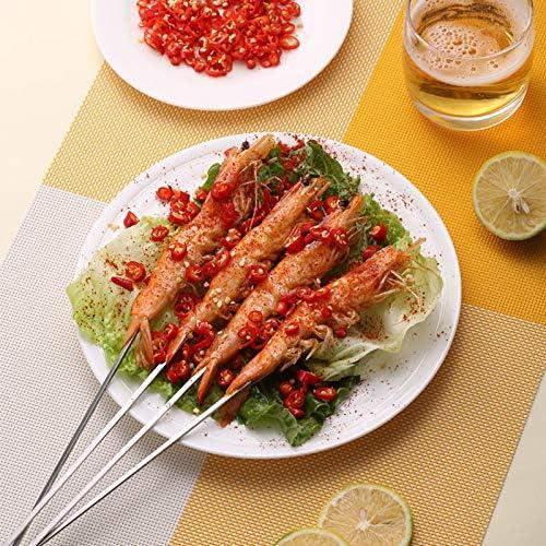 viande LYNN Lot de 10 brochettes en m/étal 38 cm pour barbecue kebab l/égumes shish