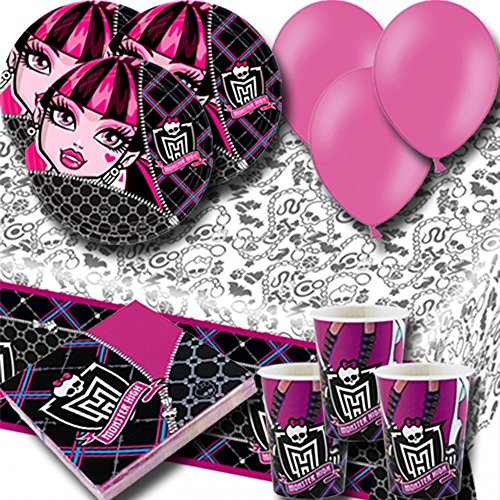 Signature Balloons Monster High Party Pack For 8 -Plates, Cups, Napkins, Balloons And Tablecover