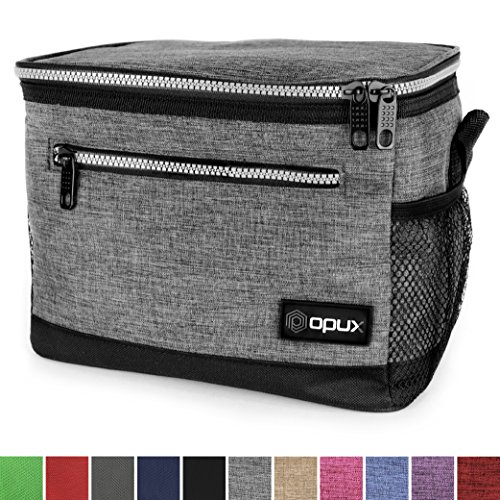 OPUX Premium Insulated Lunch Bag with Shoulder Strap | Lunch Box for Adults, Kids | Soft Leak Proof Liner | Medium Capacity Lunch Cooler for Office, School | Fits 6 (Leak Proof Peva Lining)