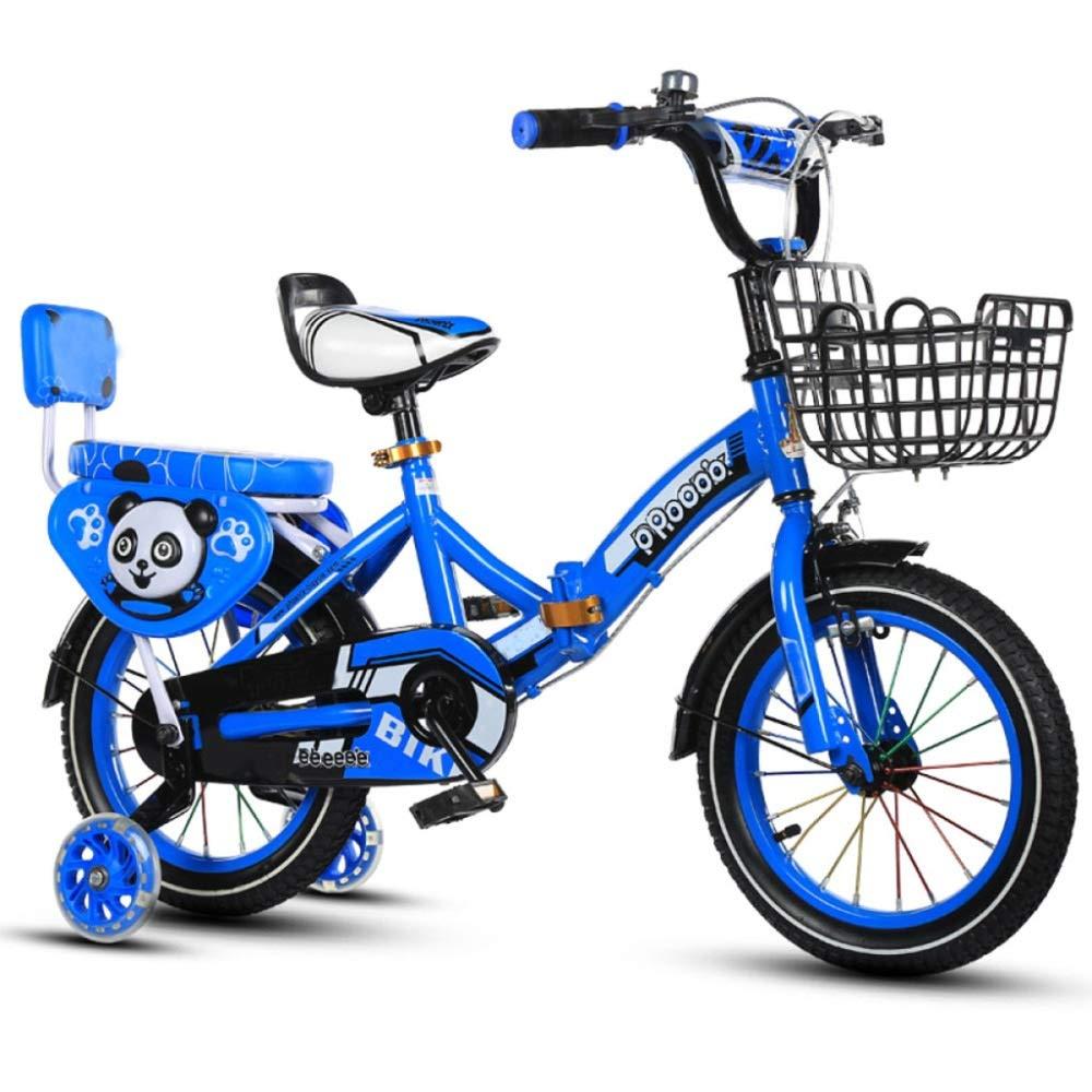CBICK Vélo d'enfant Vélo de sécurité pour Enfants Vélo réglable Garçons Filles étudiant Tout-Petit Vélo Pliant pour Homme et Femme (Couleur   Bleu , Taille   12 Pouces )